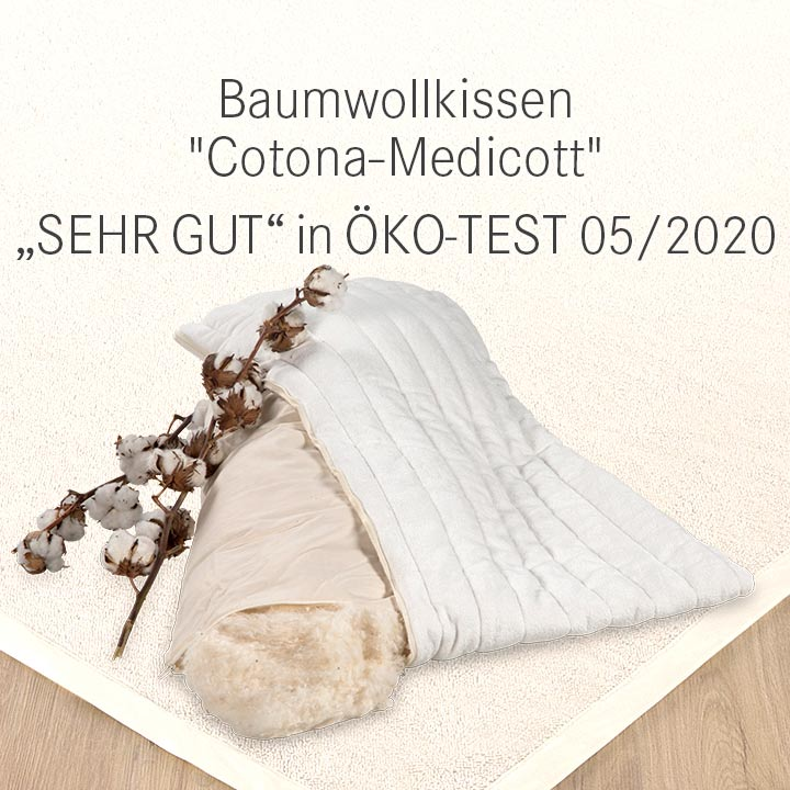 Baumwollkissen Cotona-Medicott