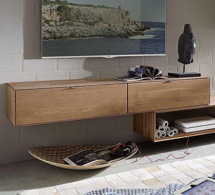 tv lowboards aus massiver wildeiche. Black Bedroom Furniture Sets. Home Design Ideas