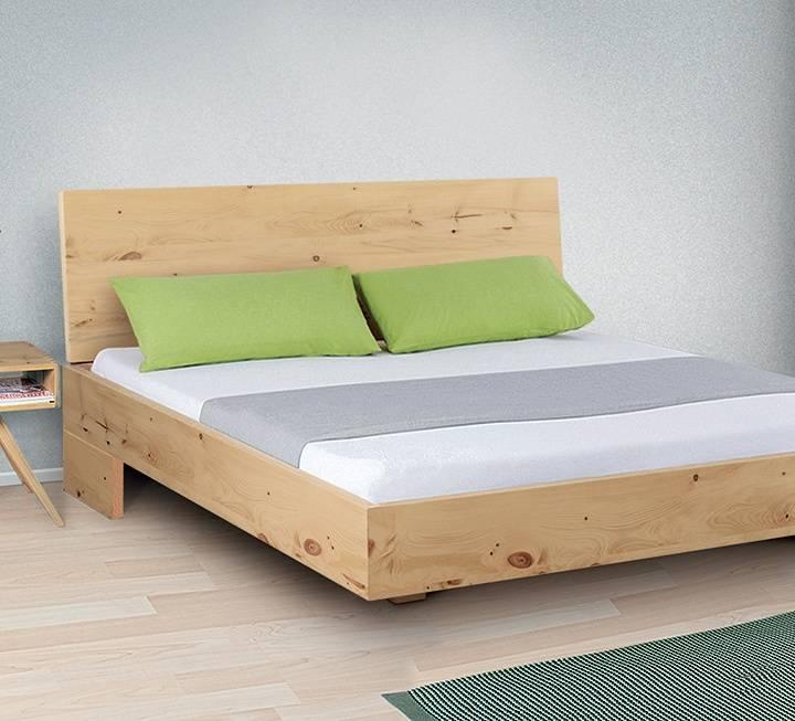 """Einzelbett und Doppelbett """"Turvo 01"""" - Zirbe"""