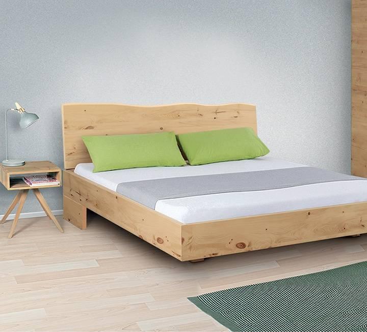 """Einzelbett und Doppelbett """"Turvo 03"""" - Zirbe"""
