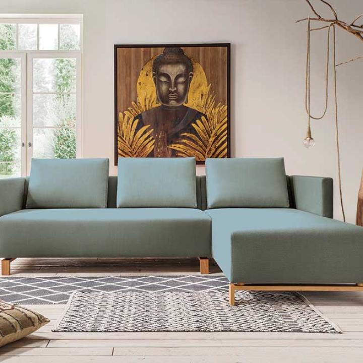 "Couch mit Recamiere ""Fino-Vegan"""