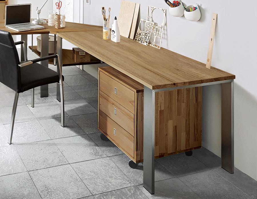 Schreibtisch calva 01 for Schreibtisch wildeiche