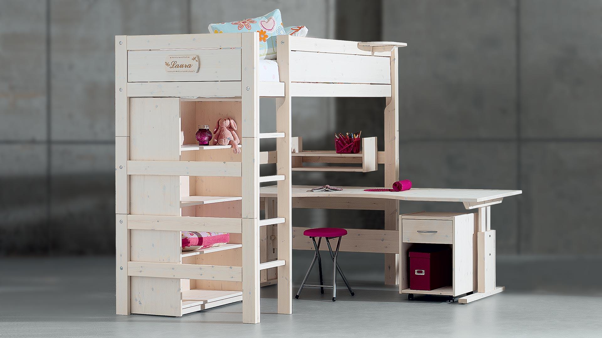 hochbett mit zwei betten ideen hochbetten funvit mit zwei betten hochbett geko schrank bilder. Black Bedroom Furniture Sets. Home Design Ideas