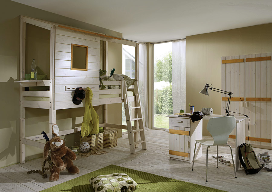 mini hochbett kiddy. Black Bedroom Furniture Sets. Home Design Ideas