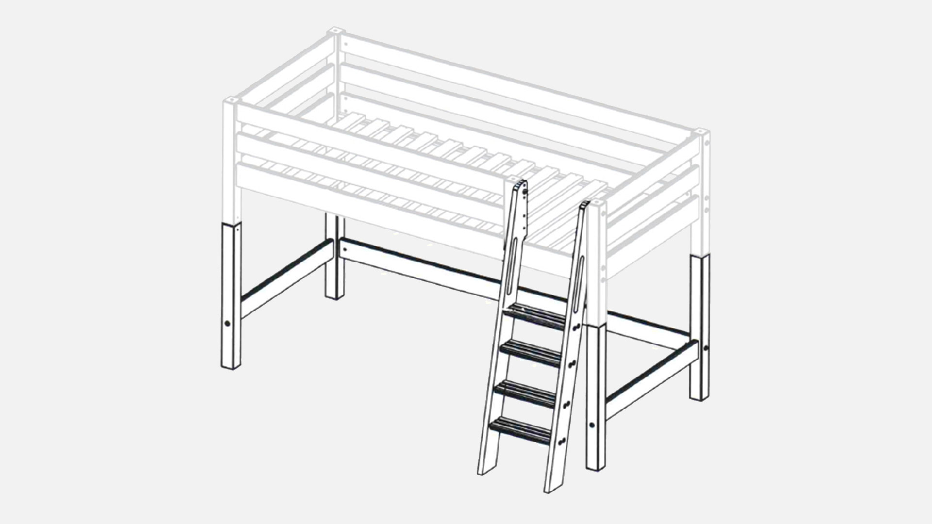normales bett zum hochbett umbauen wohn design. Black Bedroom Furniture Sets. Home Design Ideas