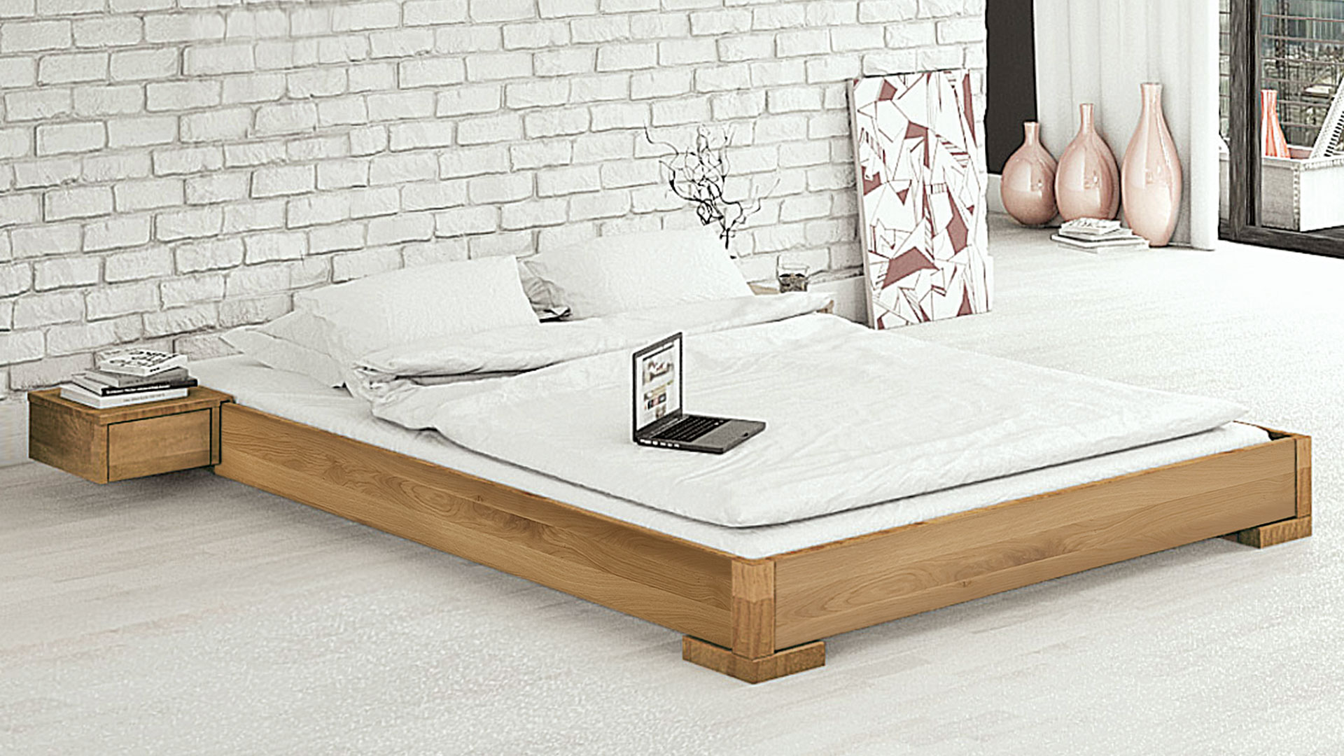 einzelbett und doppelbett genova. Black Bedroom Furniture Sets. Home Design Ideas