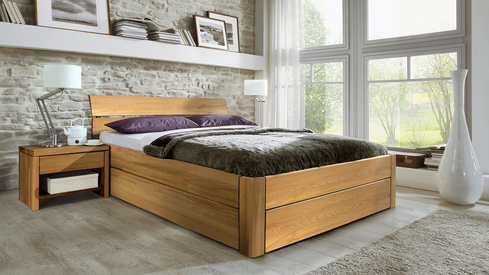 schubkastenbett sobaria. Black Bedroom Furniture Sets. Home Design Ideas