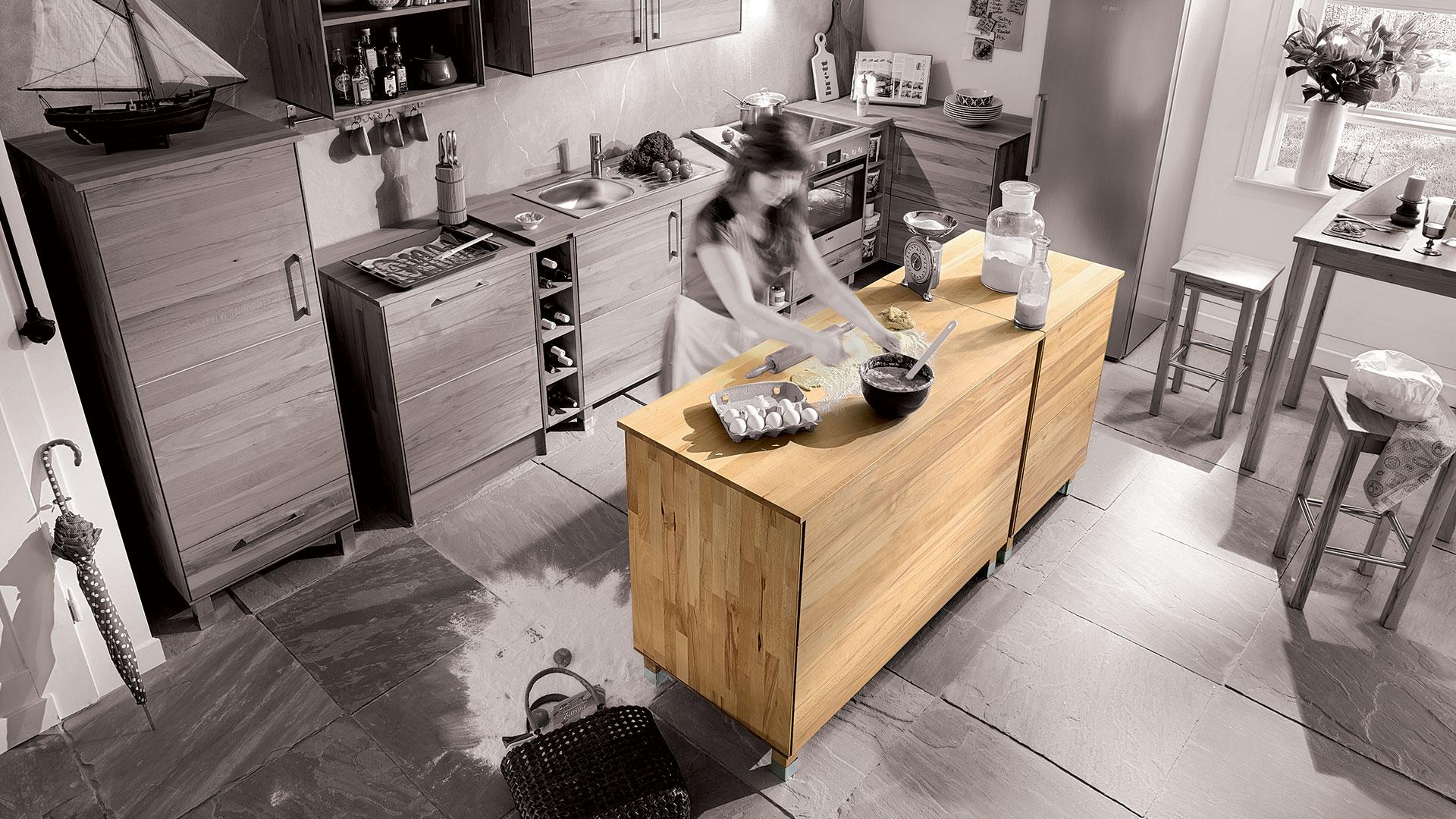 kücheninsel küche mit kücheninsel culinara kernbuche