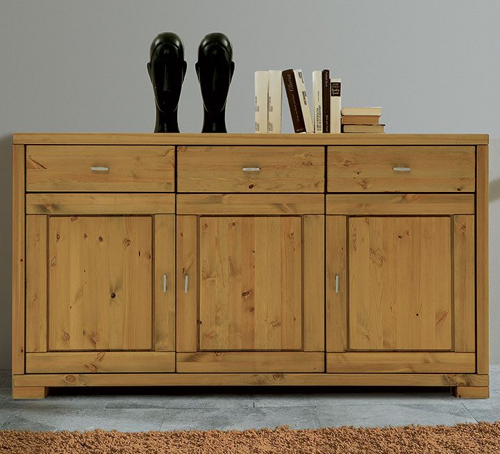 Esszimmer Eiche Steinoptik Sideboard Highboard Esstisch: Sideboards & Highboards Aus Massivholz